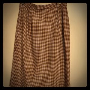 Vintage JHCollectibles wool houndstooth skirt 12